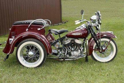 Old school Harley Davidson trike