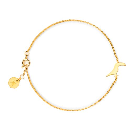 TOUCAN BRACELET GOLD | Flor Amazona