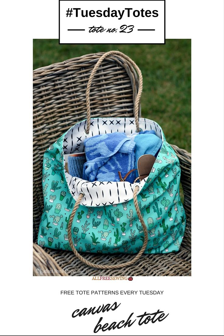 Canvas Beach Diy Tote Pattern Sewing Projects For