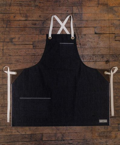 Kyoto Bib Apron, Selvedge Denim - Jones of Boerum Hill  - 1 I LOVE the cross…