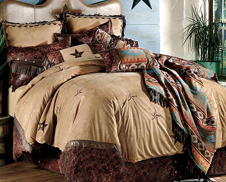 Western Decor Bedding Furniture Cowboy One Of The Bedrooms