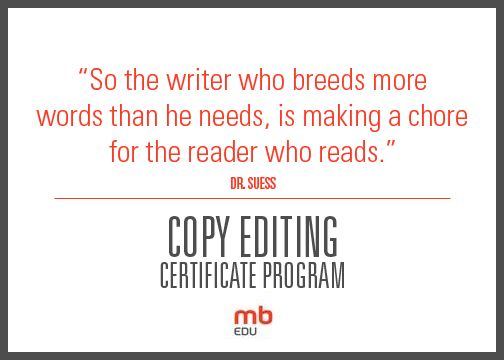 Professional copy editor