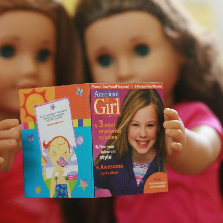 "Printables and instructions for making a doll-sized American Girl Magazine for your 18"" doll"