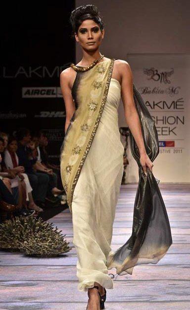 Babita Malkani's sarresque dress