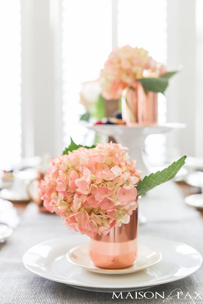 Dessert And Coffee And A Sweet Spring Tablescape Hydrangea