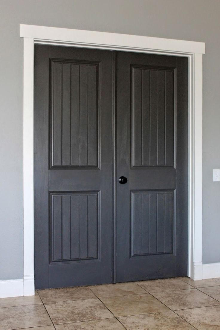 Best 25 farmhouse interior doors ideas on pinterest pantries closet doors behr classic silver dark granite and silky white eventelaan Choice Image