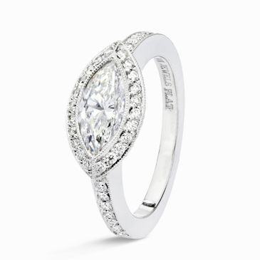 East+West+Marquis+Ring   East/West Marquise Cut Diamond Ring   Engagement Rings   H Jewels ...