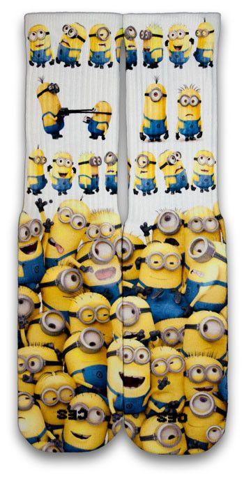 Minions Minions and more Minions. • Comes in standard Sizes (Small, Medium & Large - Men) • Reinforced heel and toe for enhanced durability • Left/Right specific design for a better fit • Supportive f