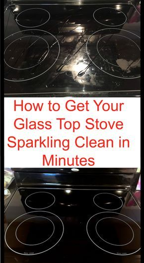 Cleaning hack to clean your glass stove in just a few minutes.