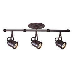 Semi-plafonnier rétro trous d'épingle 1 ampoule bronze antique