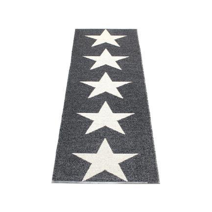 Viggo Star gulvløber, metallic black, 70x150, Lina Rikardsson, Pappelina 900kr