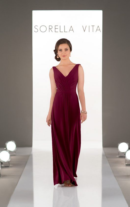 Garnet bridesmaids dress by Sorella Vita