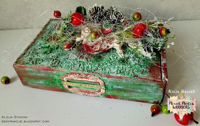 DEKORakcje: Happy holidays - altered box for MMW