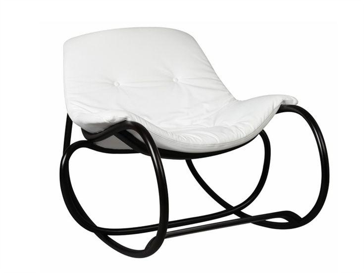Cadeira de balanço estofada WAVE Coleção Bentwood by TON | design Michal Riabic