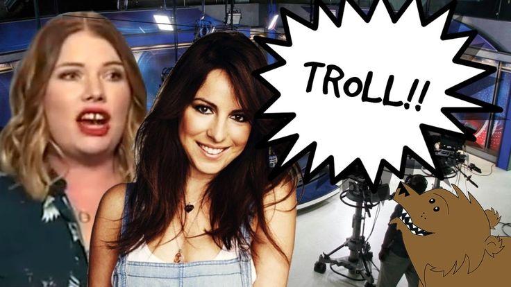 Hot TV presenter trolls a fat feminist troll!