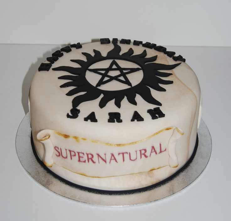 supernatural birthday cake ideas