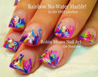 No Water Marble with Handpainted accents make for a perfect rainbow springtime…