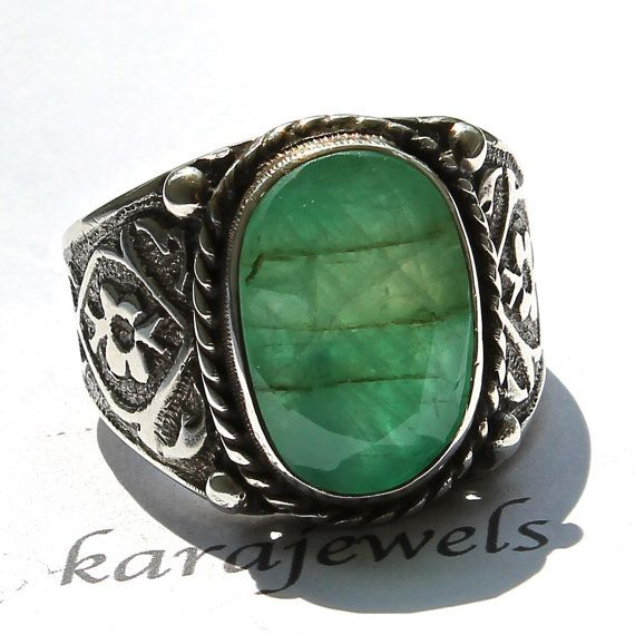 Sterling Silver Unique Handmade Ring for Men by KaraJewelsTurkey, $149.00
