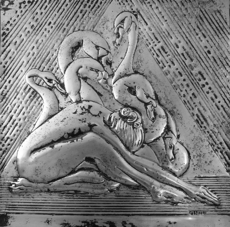 Dancer 3, metaloplastie,aluminium,50x50cm