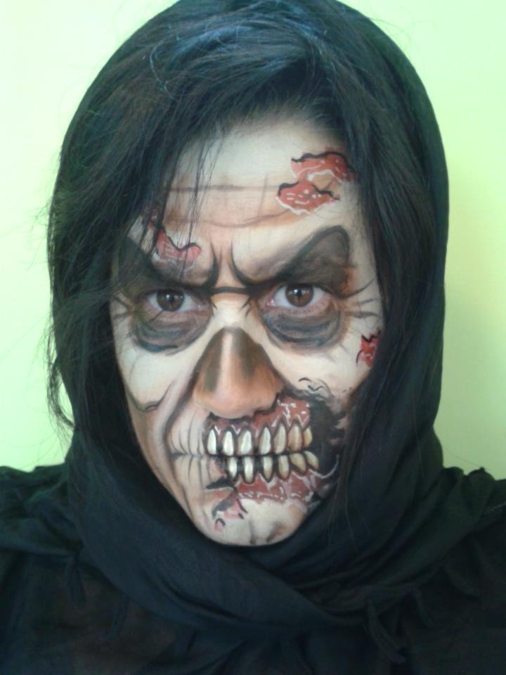 matteo arfanotti faceszombiespaintingfunmake up - Zombie Halloween Faces