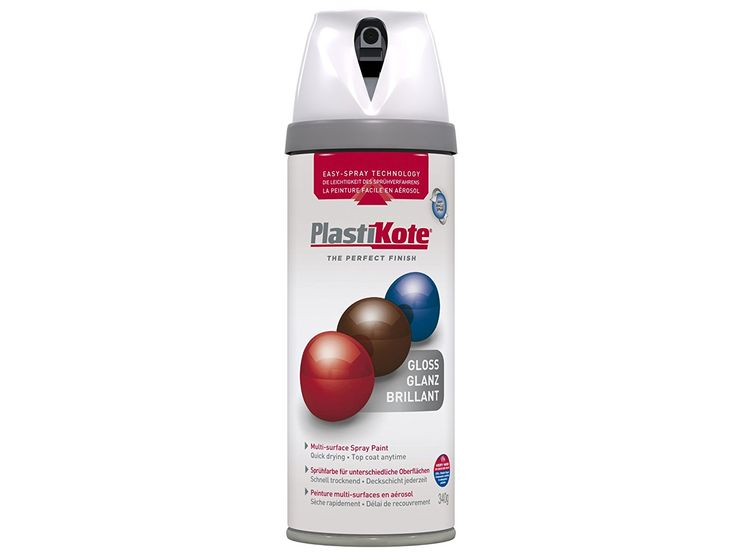 Plasti-kote 21102 400ml Premium Spray Paint Gloss - White: Amazon.co.uk: DIY & Tools