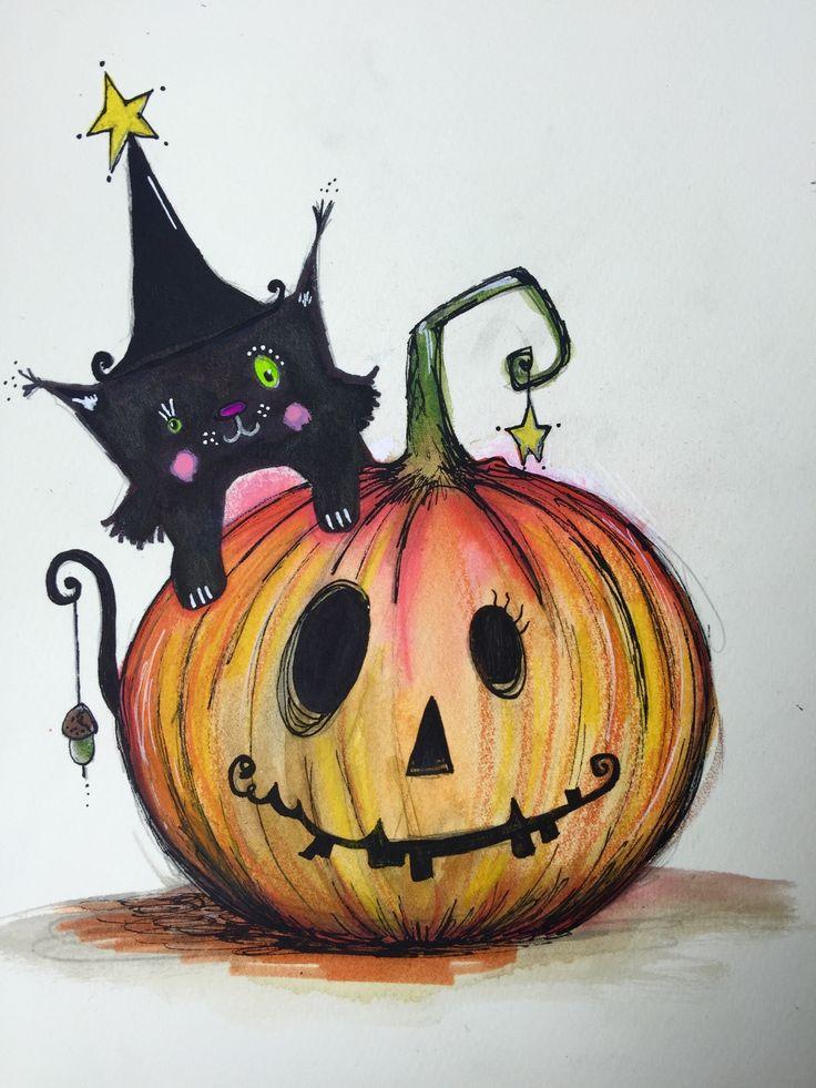 Рисунки картинки на хэллоуин