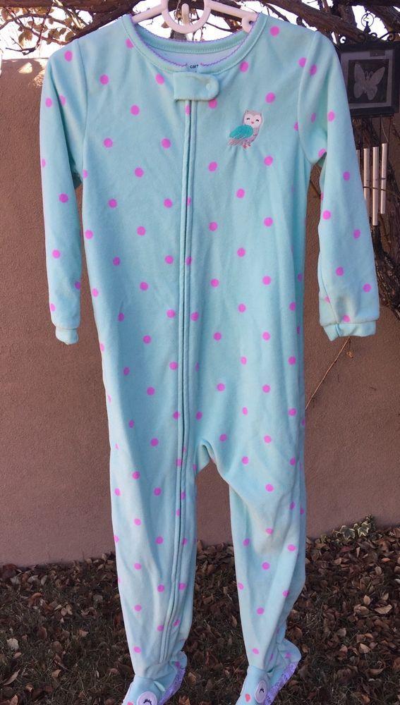 12462dfab Girl s carter s euc mint green size 5 fleece full body sleeper ...
