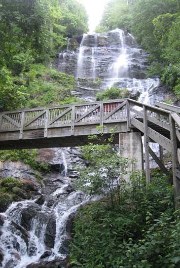 Beautiful, serene Amicalola Falls in North Georgia (Bert,Hope, Jared & I went there LOVED it!)