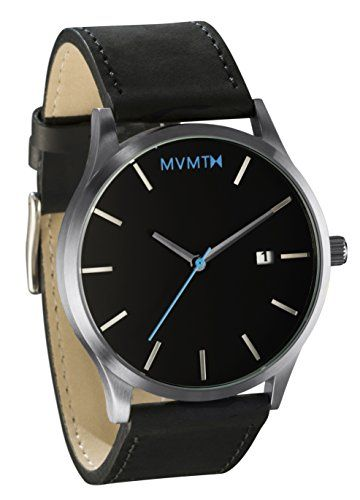 MVMT Watches Silver Case with Black Leather Strap Men's Watch MVMT Watches http://www.amazon.com/dp/B00VIP42TQ/ref=cm_sw_r_pi_dp_eXZNvb1G4R5SE