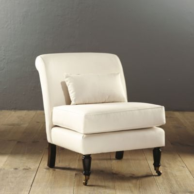 Leyland Armless Chair with Lumbar Pillow  Ballard