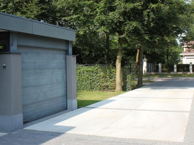 Uw oprit tuinpad terras aanleggen betonnen vloerplaten for Oprit ontwerp