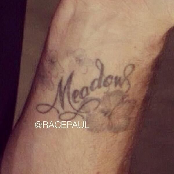 Paul Walker...his Meadow tattoo