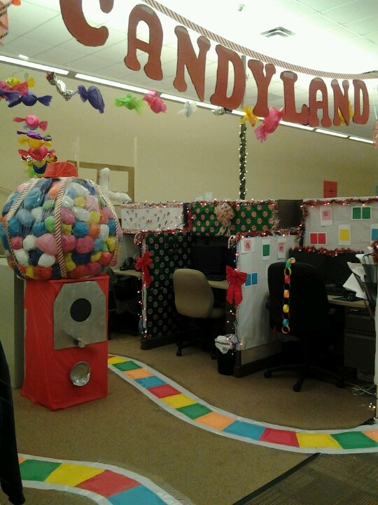 I Loved Decorating This!!! Candyland At The Office | Candyland | Pinterest  | Halloween Office, Christmas And Office Christmas Decorations