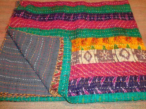 new kantha silk pattola throw