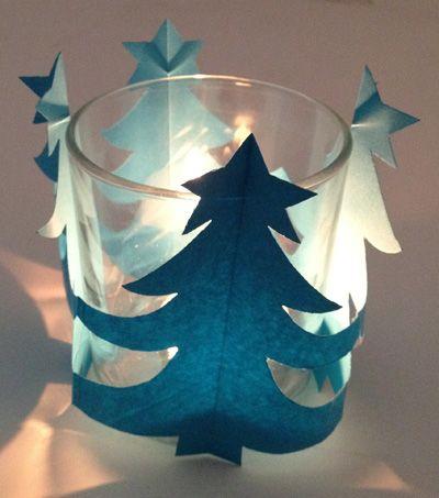 Tuto de photophore de Noël en papier.