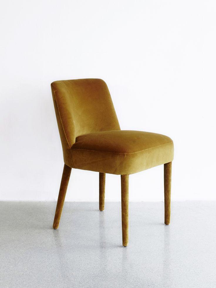 DIMENSIONS: W:53 cm, D: 60 cm, H: 80 cm, SH: 47 cm COLOUR: Cayenne 116 MATERIAL: Velvet (cotton), fully upholstered.