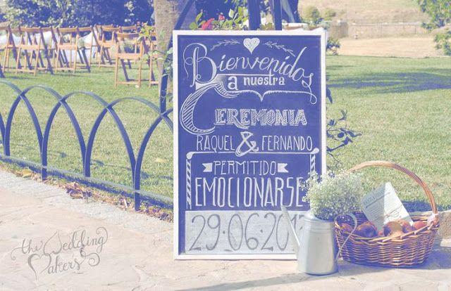 Las bodas de Marta: Pizarras de bienvenida