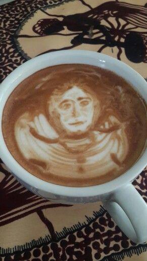 Pre gig coffee latte art