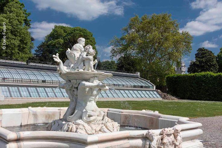 Nettuno's fountain - detail - in the garden of Ninfeo of Villa Litta, Lainate, near Milan (Italy)