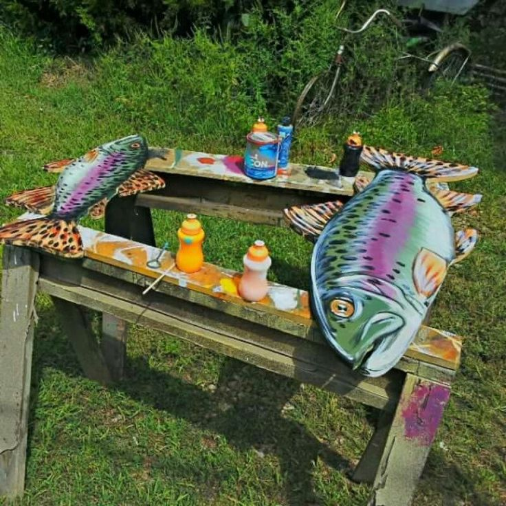 Remember He Can Paint Pretty Much Any Fish You Want For Our Fish Furniture.