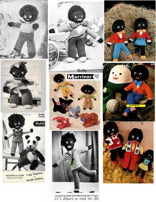 10 VINTAGE GOLLY/GOLLIWOG KNITTING PATTERNS ON CD