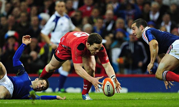Wales centre George North scores against France #Rugby #WalesRugby | The 6 Nations Weekend Review: Round 3 - Rugby Today