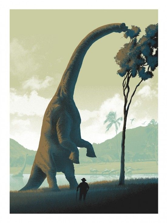 Mark Englert - Its A Dinosaur.                   Instantly theme music from Jurassic Park starts playing.