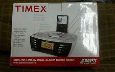 Timex T435P Reloj Alarma De Cámara De Sonido Multi Direccional Am/Fm Radio Ipod…