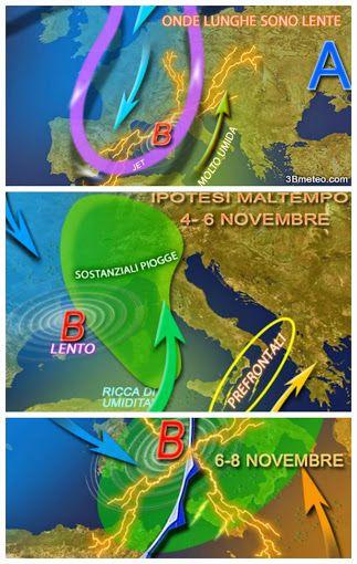 Allerta Meteo in diverse zone d'Italia. Il peggioramento in arrivo analizzato passo dopo passo. #allertameteo #maltempo