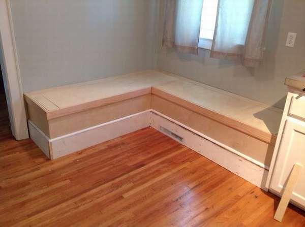 Скамейка на кухню с ящиком   Кухонные скамейки, Кухонный ...
