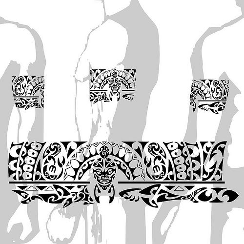 Tattoo Maori Bracelete Polinésia kirituhi, via Flickr.