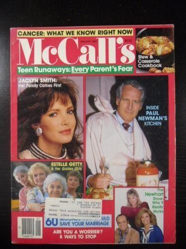 McCall's Magazine 1988 JANUARY PAUL NEWMAN NEWHEART ESTELLE GETTY JACLYN SMITH | Books, Magazine Back Issues | eBay!