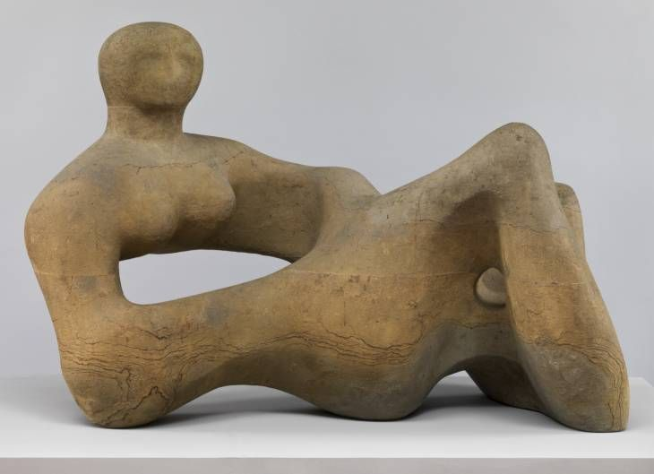 Henry Moore 'Recumbent Figure' 1938, Tate Britain | Constructed from 3 pieces of stone, specifically chosen so that there contours compliment the shape of the figure