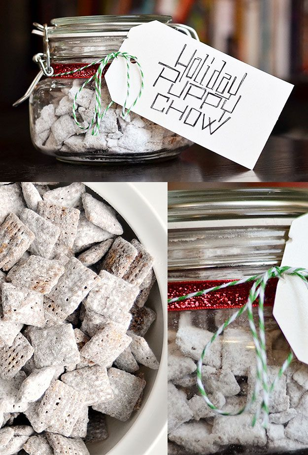 Puppy Chow | 24 Delicious DIY Food Gifts In Jars